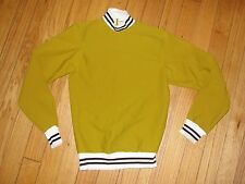 Deadstock Rare Vintage Champion Warmup Pullover Sweater Jersey Shirt Medium Gold