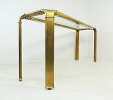 Vintage Hollywood Regency John Widdicomb Waterfall Brass Console Table
