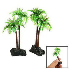 2Pcs Plastic Coconut Tree Aquarium Plants Ornament decoration for Fish Tank New