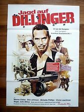DILLINGER Original 1970s German Movie Poster Warren Oates, Michelle Phillips