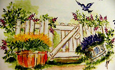 Fence RETIRED  (Uget photo # 2 only) L@@k@examples ART IMPRESSIONS RUBBER STAMPS