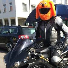 MOTORBIKE FUNNY HEEDS CRAZY CRASH  HELMET COVERS  MOTORCYCLE  COVER ORANGE  DOG