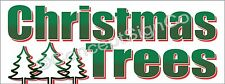 3'x8' CHRISTMAS TREES BANNER Outdoor Sign LARGE Holiday Sales Fresh Cut Xmas