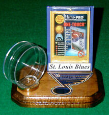 St. Louis Blues NHL Sports Card Puck Holder Logo Display Gift