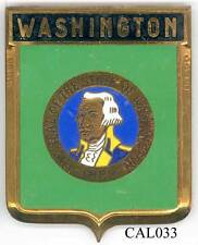 CAL032 - PLAQUE DE CALANDRE AUTO - WASHINGTON
