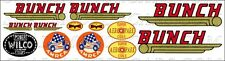 Bunch Wilco Tether Car Plane Boat Racer Toy Vehicle Waterslide Decal Set