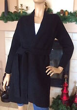 UNIQLO U LEMAIRE WOMEN LAMBSWOOL LONG CARDIGAN COLOR BLACK NWT SIZE S 89.90$