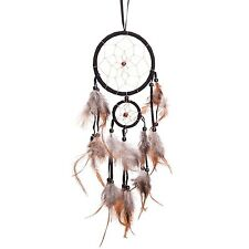 "18"" Traditional Black Dream Catcher with Feathers Wall or Car Hanging Ornamen..."