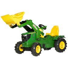 Rolly Toys John Deere 6210 R Traktor mit Frontlader und Luftbereifung grün