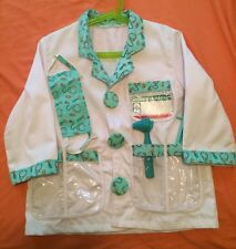 Melissa & Doug Doctor Role Play Jacket  Dress Up + Accessories 5 Pieces  EUC✔️