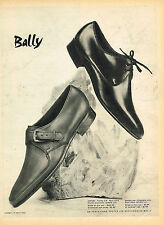 PUBLICITE ADVERTISING 035 1960  BALLY  chaussures homme