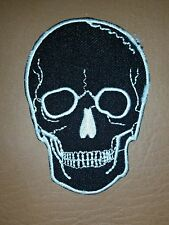 Skull Tattoo Biker Horror Goth Punk EMO Rock Iron/Sew-on Embroidered Patch/ Logo