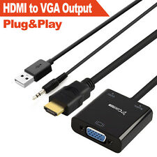 Gold-plated HDMI to VGA Output HD1080p Converter Adapter with Audio Cable