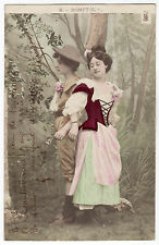 CPA -69-  Charme - couple - Amour courtois - Rompt-il ?