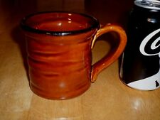 CHOCOLATE BROWN COLORED (3-D) WALLS, HAND PAINTED, Ceramic Coffee JUMBO Mug/Cup