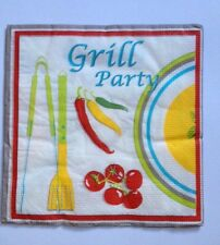 20  Vintage Table Paper Napkins / Decoupage / CRAFT / GRILL PARTY FOOD French