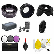 WIDE ANGLE LENS +  ZOOM LENS + NP-FW50 + FILTER KIT FOR SONY ALPHA A5100 A6100