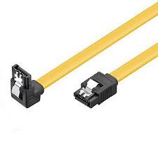 SATA Kabel 50cm s-ATA 6 Gb/s High Speed gewinkelt Winkel Metallclip SSD CAK 0,5m