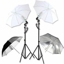 Studio Photography 135W Lamp Umbrella Light Stand Set Continuous Lighting Kit