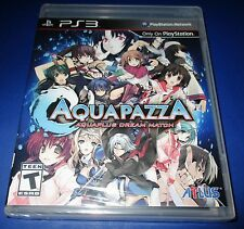 Aquapazza: Aquaplus Dream Match Sony PS3  Factory Sealed!! Free Shipping!!