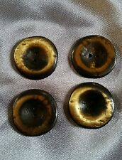 4 x steampunk antique or couleur metal vintage boutons
