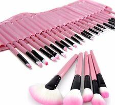 32 Brochas Maquillaje Rosadas en su Bolsa , Makeup Professional Mujer Cosmetic