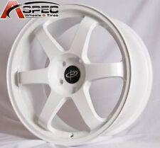 17X8 5X114.3 +35 WHITE ROTA GRID RIM LANCER RSX TSX CIVIC SI ACCORD V6 MR2 WRX