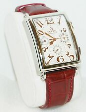 NEW Gevril 5015 Mens Avenue of Americas Automatic Chronograph Analog Red Watch