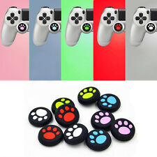 2x Blue Silicone Joystick Thumb Stick Grips Cap Case for PS4/Xbox One Controller