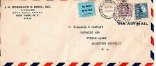 City Hall Annex NYC Aug 27 1936 Sc#701 637 to Buenos Aires Argentina Air Mail