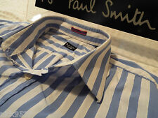 """PAUL SMITH Mens Shirt �� Size 16"""" (CHEST 44"""") �� RRP £95+ �� SUPERBLY STRIPED"""