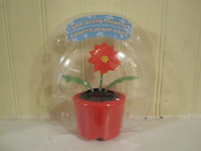 Solar Dancing poinsettia new in package red flower red pot Christmas holiday