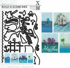 XCUT BUILD A NAUTICAL SCENE PIRATE SHIP, WHALE 16 DIES CUTTING DIE SET - NEW
