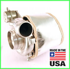 TD06H Big 16G 18G 20G ECLIPSE DSM TURBO BLANKET TURBOCHARGER HEAT SHIELD Chrome