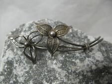 Vintage filigrane Brosche 800 Silber Blüte / Blume ~ 1900 Jugendstil
