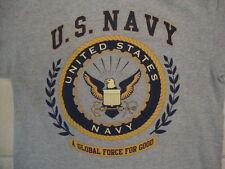 Bayside U.S. United States Navy Bald Eagle Logo Gray T Shirt M