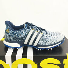 ADIDAS MEN'S TOUR 360 PRIME BOOST GOLF SHOES SIZE: 9 M WHITE/BLUE *SAMPLE* 17317