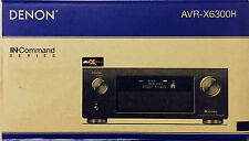 NEW DENON AVR-X6300H 11.2 CHANNEL FULL 4K  ULTRA HD AV RECEIVER HEOS AVRX6300H