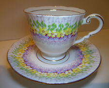 "Royal Stafford ""Glendale"" Cup and Saucer Bone China Made in England"