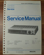 Clock-Radio 90AS893 Philips Service Manual Serviceanleitung