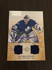 Artifacts 2014-15 - Ed Belfour Silver Materials Dual Jersey Auto SP 08/12!!
