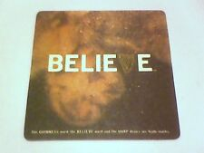 GUINNESS DRAUGHT  BELIEVE   beermat / coaster  2 Sided