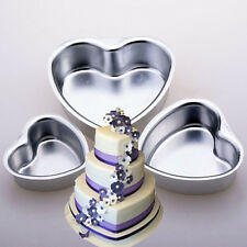 "Xmas 3"" 4"" 5"" Heart Aluminum Cake Muffin Pan Baking Tin Wedding Party Mold #L"
