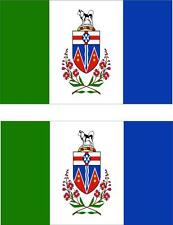 set of 2x sticker vinyl car bumper decal outdoor moto flag yukon canada