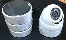 4 HD-CVI Dome Cameras 2.4 MP 1080p HD Outdoor 3.6mm + 4 Mounting Junction boxes