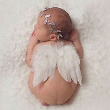 Newborn Baby Leaf Headband & Wing Costume Photo Photography Prop Outfits Set