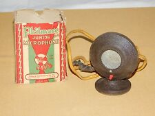 "VINTAGE RADIO TOY 3 3/4"" HIGH PHILMORE JUNIOR MICROPHONE NO. 500 IN BOX"