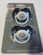 Pittsburgh Steelers Baby Infant Pacifiers NEW - 2 Pack   GREAT SHOWER GIFT!