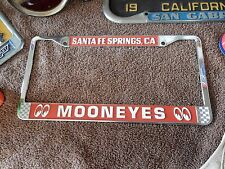 MOONEYES LICENSE PLATE FRAME IN RED HOT RODS RAT RODS CUSTOM CARS SCTA