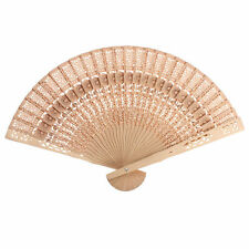 Vintage Chinese Japanese Style Hollow Folding Bamboo Wooden Carved Hand Fan New